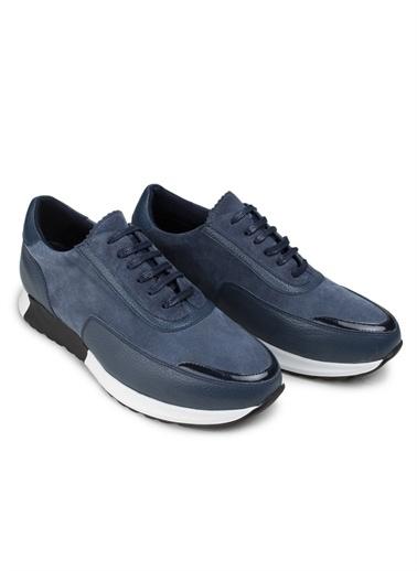 Deery Deery Doğal Süet Rahat Tabanlı Sneakers Erkek Ayakkabı Mavi